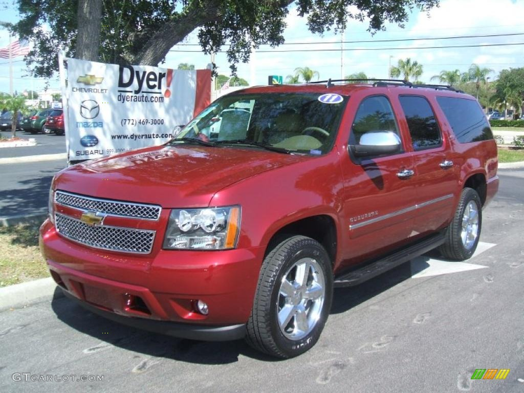 2011 red jewel tintcoat chevrolet suburban ltz 38412730. Black Bedroom Furniture Sets. Home Design Ideas