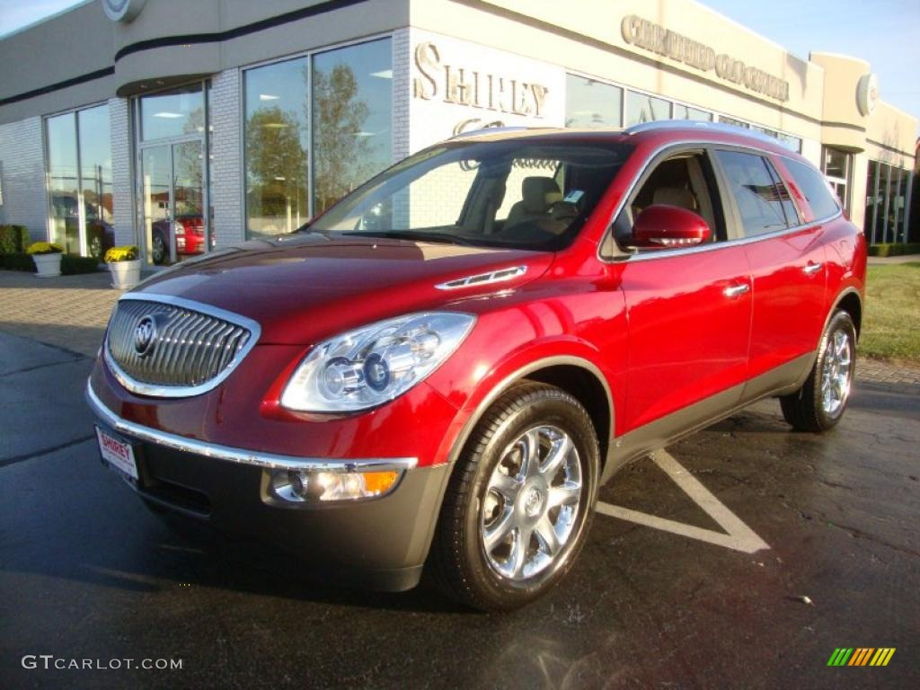 2008 Enclave CXL AWD - Red Jewel / Cashmere/Cocoa photo #1