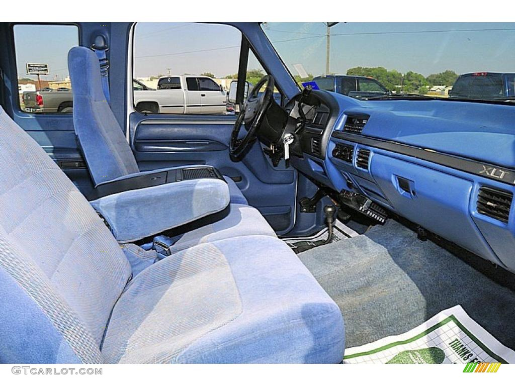 blue interior 1995 ford f250 xlt extended cab 4x4 photo