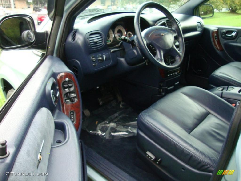 Navy Blue Interior 2001 Chrysler Town Country Limited Photo 38491583