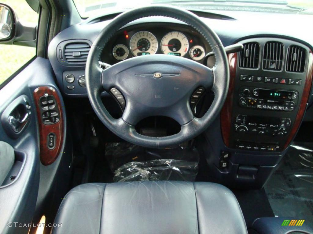 2001 Chrysler Town & Country Limited Navy Blue Dashboard Photo ...