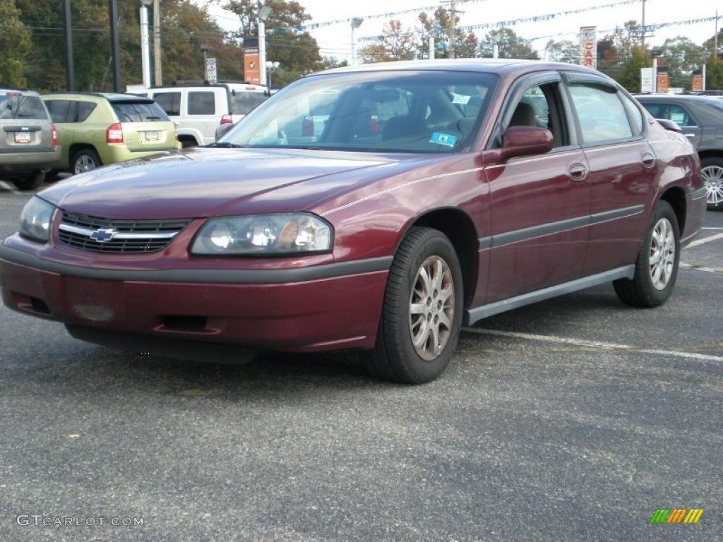 dark carmine red metallic 2002 chevrolet impala standard impala model exterio. Cars Review. Best American Auto & Cars Review