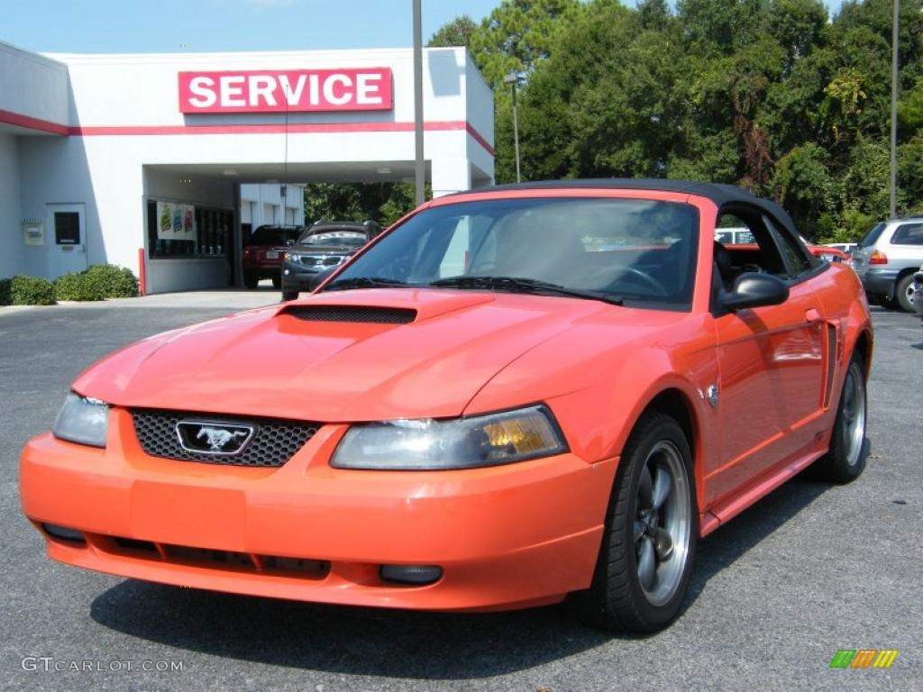 2004 competition orange ford mustang gt convertible. Black Bedroom Furniture Sets. Home Design Ideas