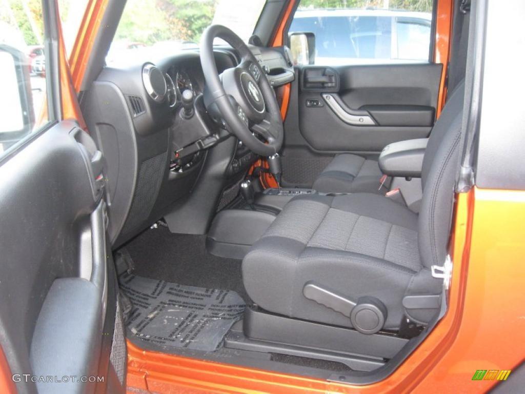 Black Interior 2011 Jeep Wrangler Sport S 4x4 Photo 38500499