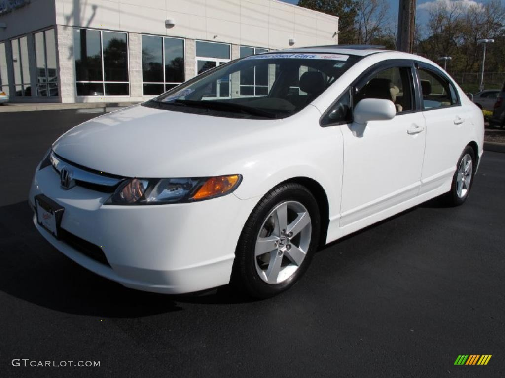 taffeta white 2006 honda civic ex sedan exterior photo 38508367. Black Bedroom Furniture Sets. Home Design Ideas