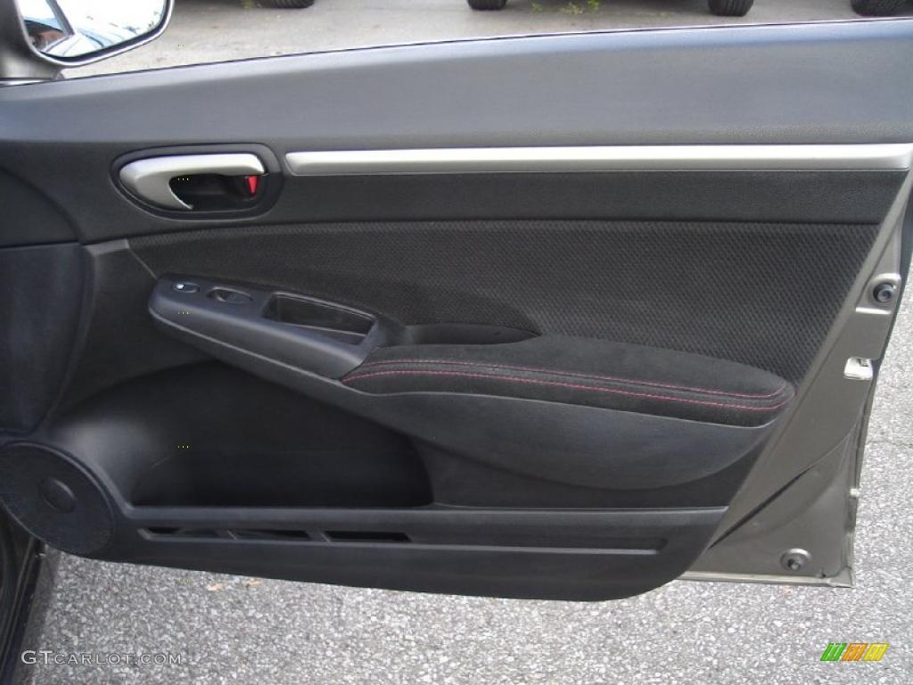 2008 Honda Civic Si Sedan Black Door Panel Photo 38510243