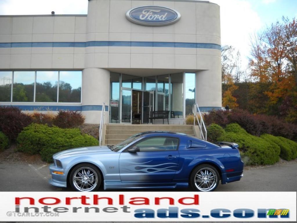 2007 Mustang GT Premium Coupe - Vista Blue Metallic / Dark Charcoal photo #1