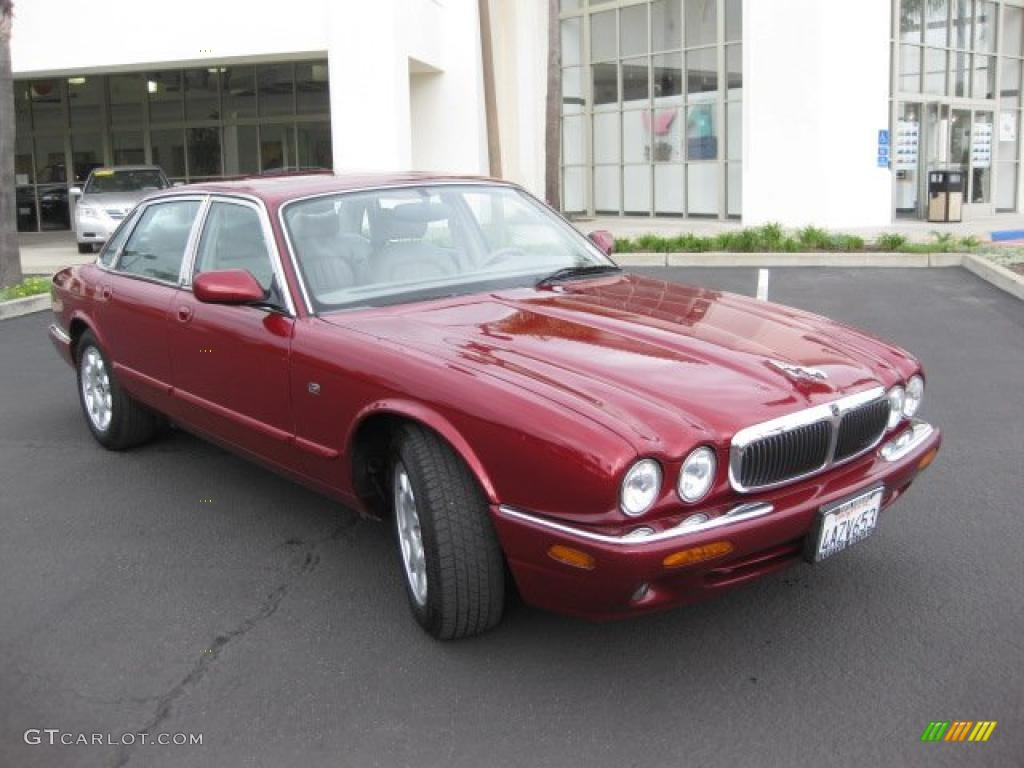 Carnival red pearl 1998 jaguar xj xj8 exterior photo for Jaguar xj exterior