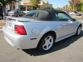 2001 Silver Metallic Ford Mustang GT Convertible  photo #3