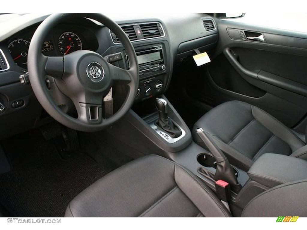 Titan Black Interior 2011 Volkswagen Jetta Se Sedan Photo 38544935