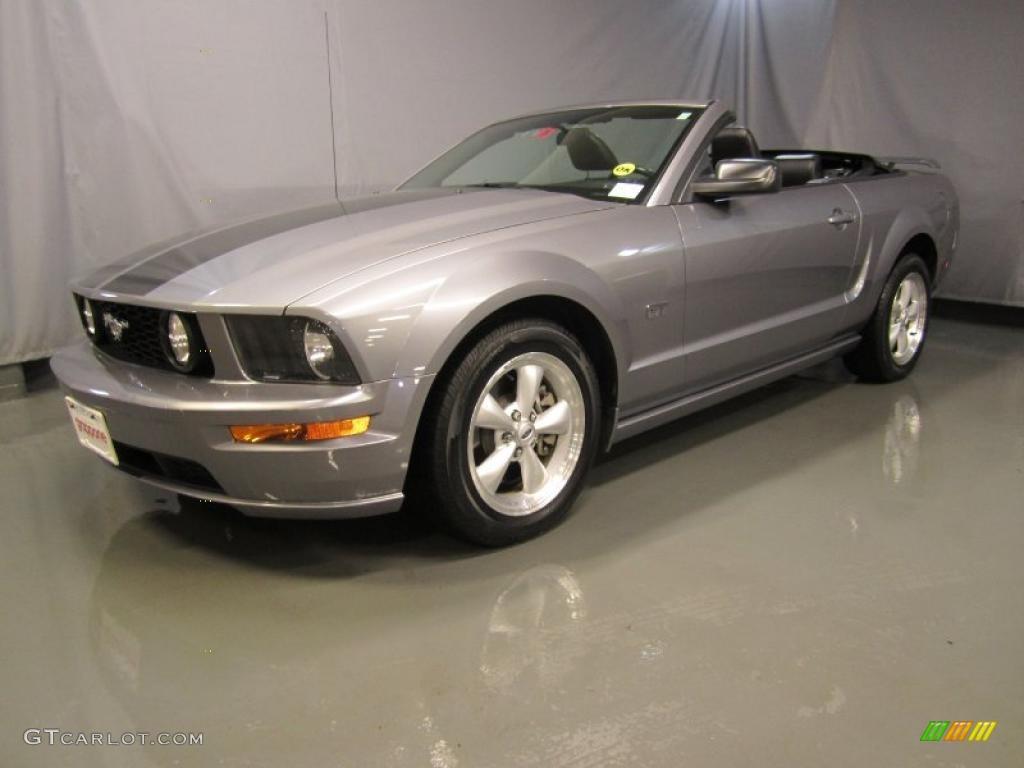 2007 Mustang GT Premium Convertible - Tungsten Grey Metallic / Dark Charcoal photo #1