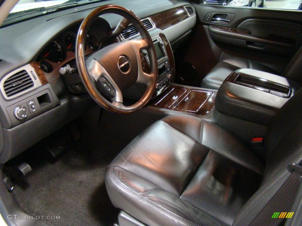 ebony interior 2009 gmc sierra 1500 denali crew cab awd photo 38563925
