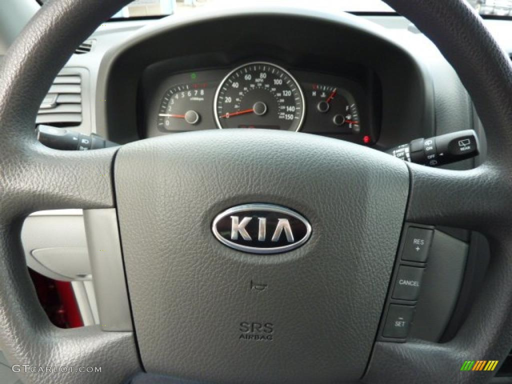 2009 kia borrego lx v6 4x4 gray steering wheel photo. Black Bedroom Furniture Sets. Home Design Ideas