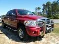 2008 Inferno Red Crystal Pearl Dodge Ram 3500 Laramie Mega Cab 4x4  photo #7