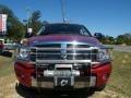 2008 Inferno Red Crystal Pearl Dodge Ram 3500 Laramie Mega Cab 4x4  photo #8