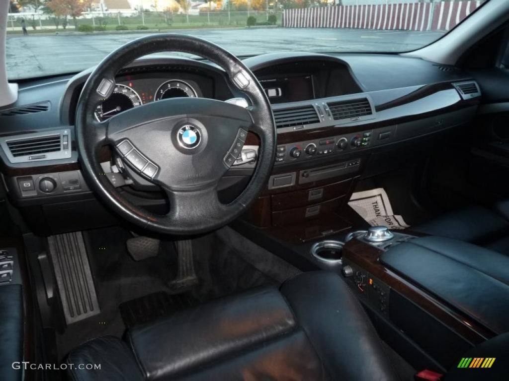 2005 BMW 7 Series 745i Sedan Black Dashboard Photo 38591593