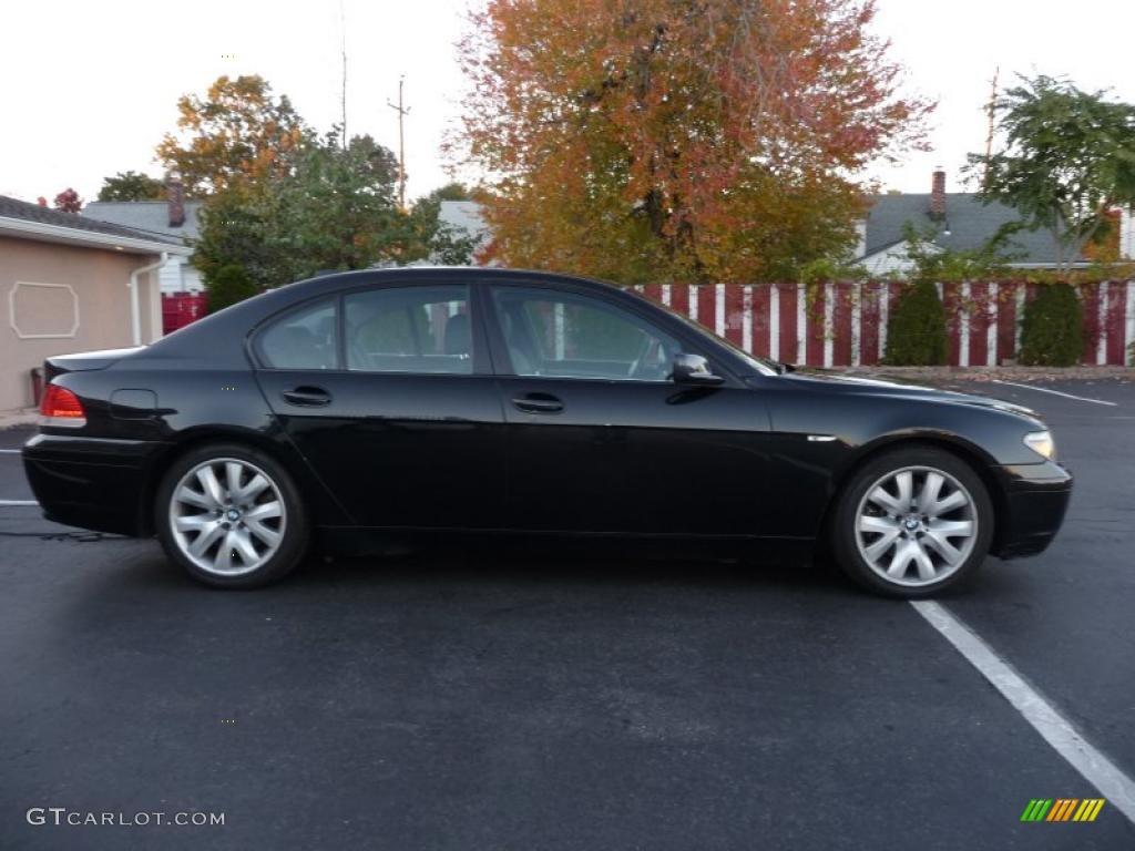 Black sapphire metallic 2005 bmw 7 series 745i sedan exterior photo 38591665 gtcarlot com