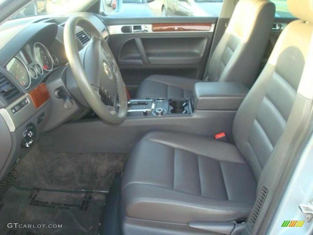 Anthracite Interior 2004 Volkswagen Touareg V6 Photo 38596121