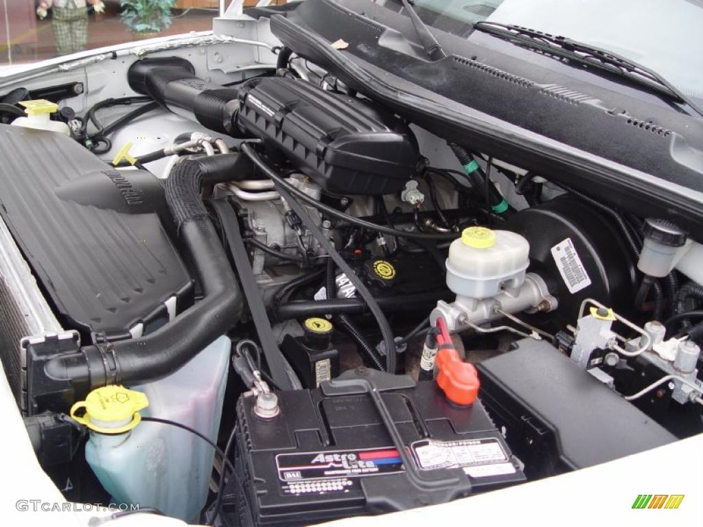 2001 Dodge Ram 1500 Slt Club Cab 4x4 5 2 Liter Ohv 16 Valve V8 Engine Photo 38613342