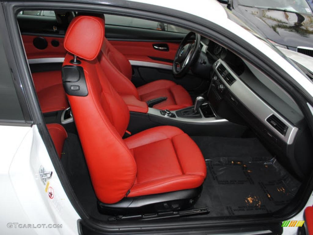 Coral Red Black Dakota Leather Interior 2009 Bmw 3 Series 335i Coupe Photo 38635958 Gtcarlot Com
