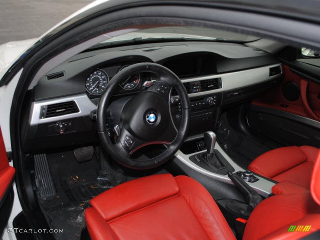 Coral Red Black Dakota Leather Interior 2009 Bmw 3 Series 335i Coupe Photo 38636146