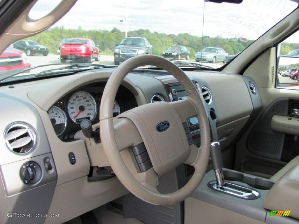 tan interior 2008 ford f150 lariat supercrew 4x4 photo
