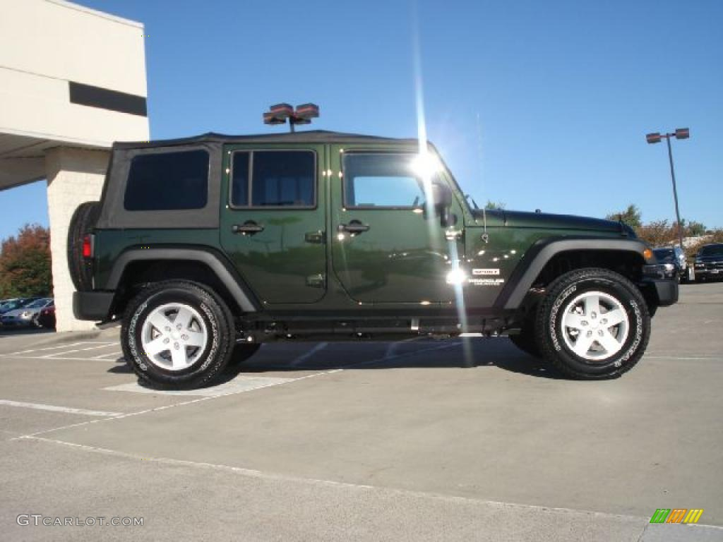Right Hand Drive Jeep >> Natural Green Pearl 2011 Jeep Wrangler Unlimited Sport 4x4 Exterior Photo #38666426 | GTCarLot.com