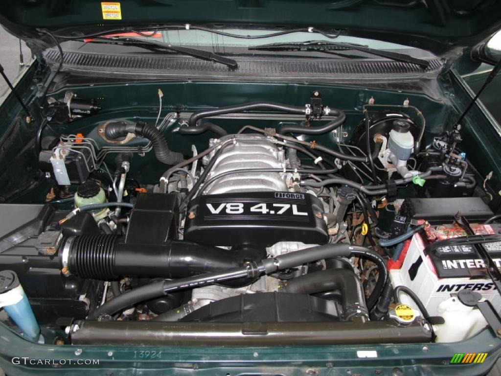 2002 Toyota Tundra SR5 Access Cab 4.7 Liter DOHC 32 Valve V8 Engine Photo #