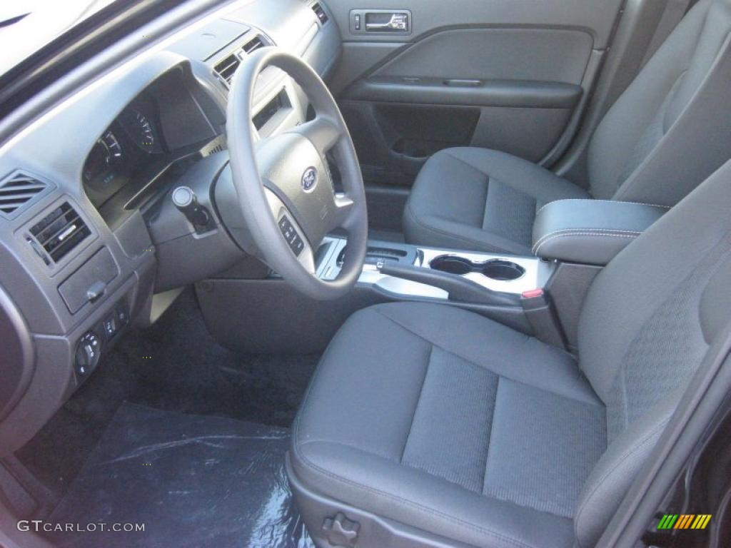 charcoal black interior 2011 ford fusion se photo 38684302. Black Bedroom Furniture Sets. Home Design Ideas