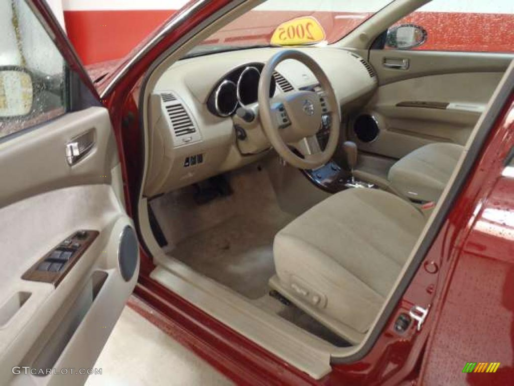 Blond Interior 2005 Nissan Altima 2 5 S Photo 38688512