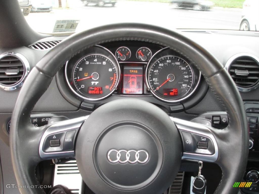 2008 audi tt 2.0t coupe black steering wheel photo #38709651