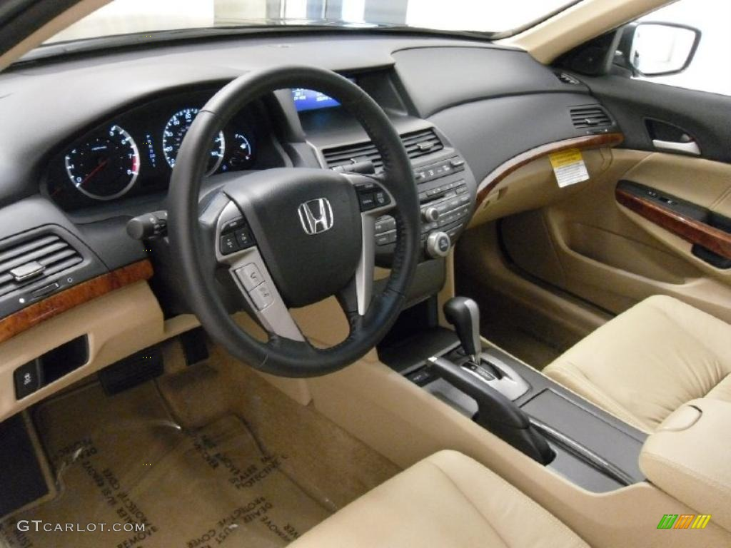 Ivory Interior 2011 Honda Accord Ex L Sedan Photo