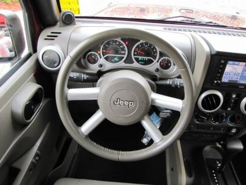 2009 Jeep Wrangler Unlimited Sahara Steering Wheel
