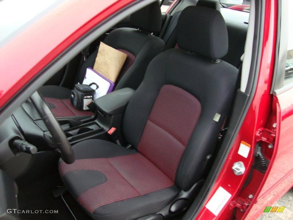 Black Red Interior 2004 Mazda Mazda3 S Sedan Photo