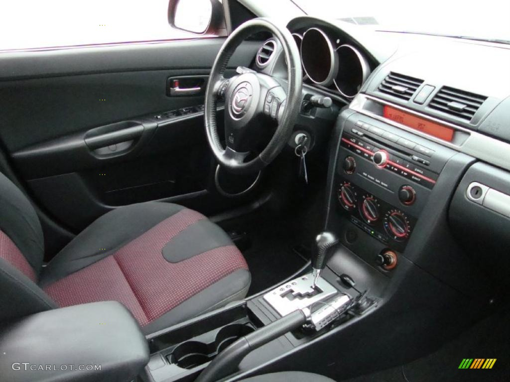 black red interior 2004 mazda mazda3 s sedan photo. Black Bedroom Furniture Sets. Home Design Ideas