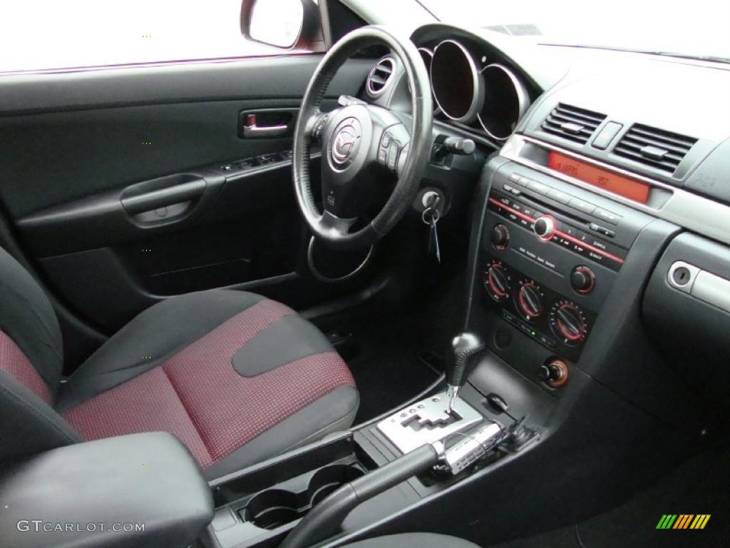 black red interior 2004 mazda mazda3 s sedan photo 38720191