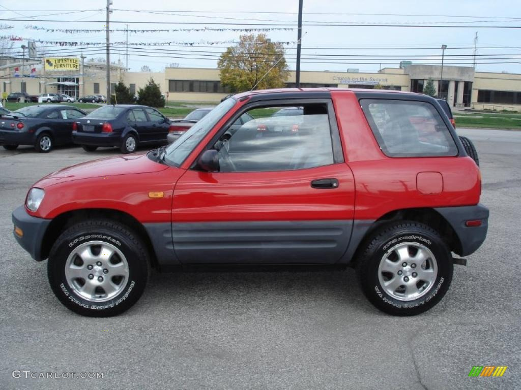 bright red 1996 toyota rav4 2 door exterior photo. Black Bedroom Furniture Sets. Home Design Ideas