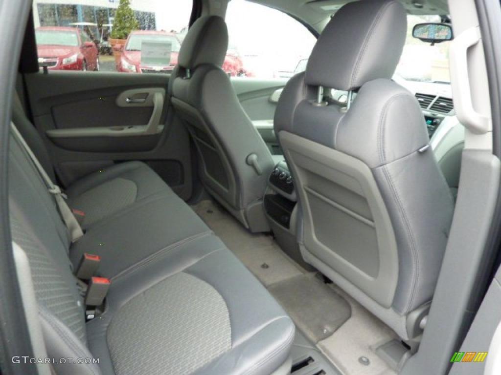 Dark Gray Light Gray Interior 2011 Chevrolet Traverse Ls