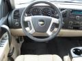 2010 Chevrolet Silverado 1500 Light Cashmere/Ebony Interior Steering Wheel Photo