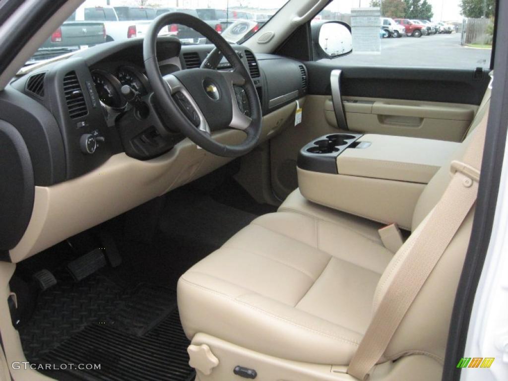 Light Cashmere Ebony Interior 2010 Chevrolet Silverado 1500 Lt Crew Cab 4x4 Photo 38731573