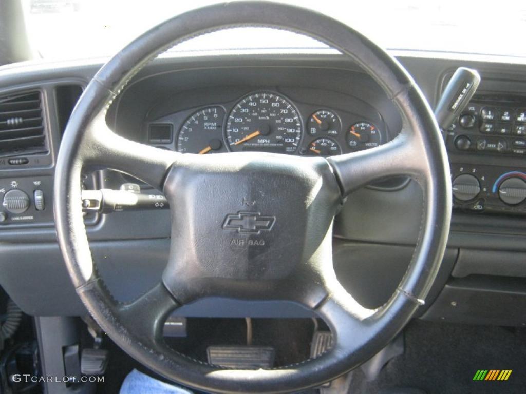 2002 Chevrolet Silverado 1500 LS Extended Cab 4x4 Graphite Gray Steering Wheel Photo #38736849