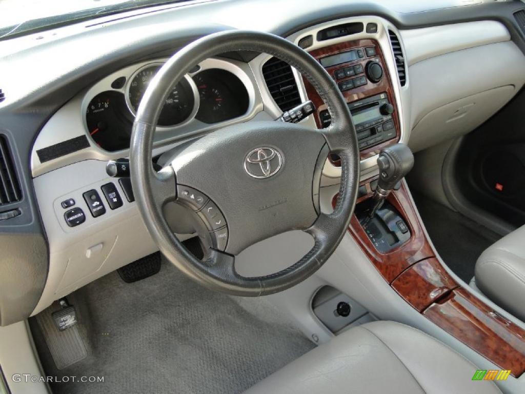 Ivory Interior 2004 Toyota Highlander Limited V6 Photo 38742600