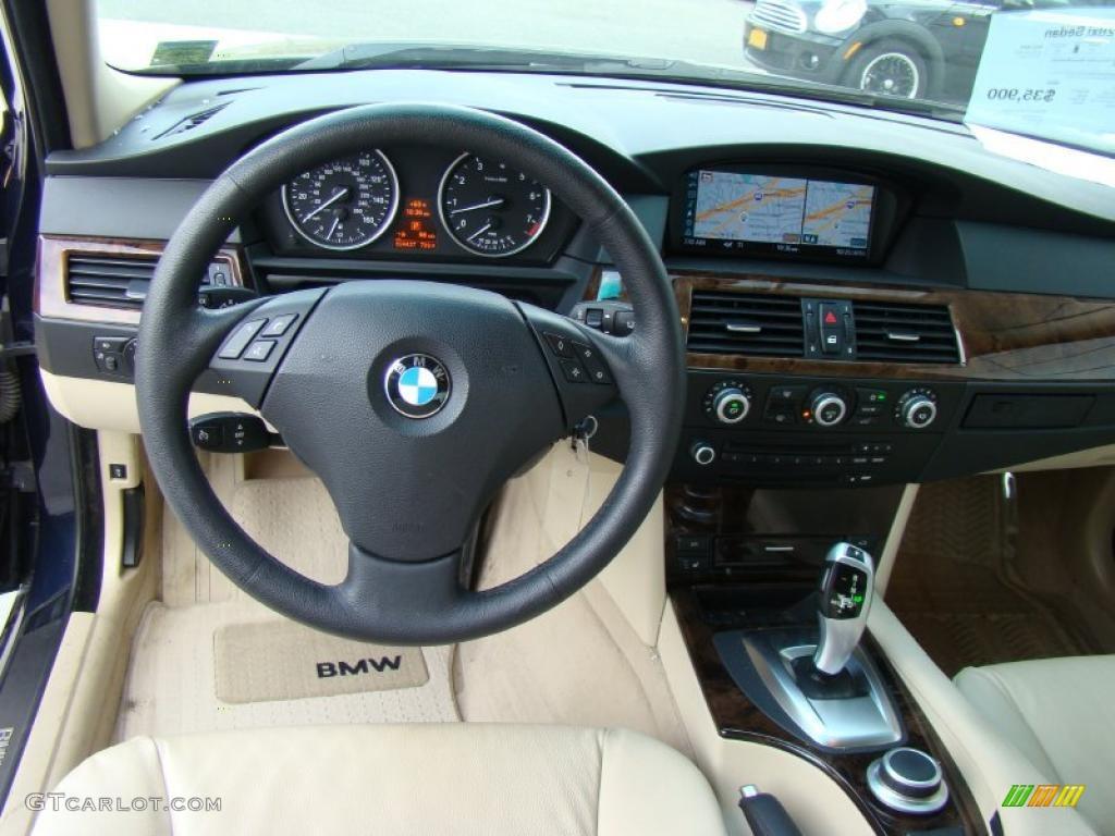 2008 bmw 5 series 528xi sedan cream beige dakota leather dashboard photo 38750776