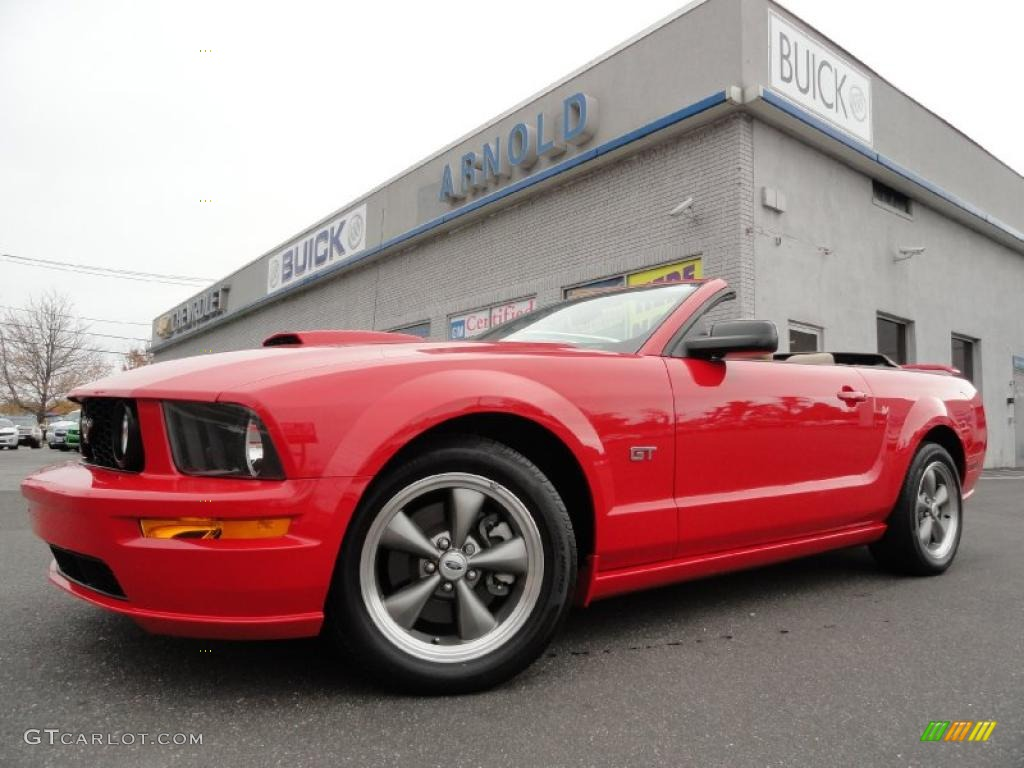 2007 Mustang GT Premium Convertible - Torch Red / Medium Parchment photo #1