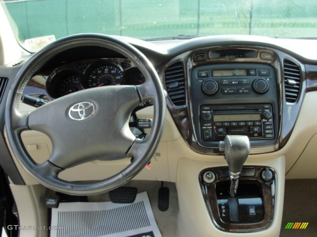 2001 Toyota Highlander Limited Ivory Dashboard Photo #38755868 ...