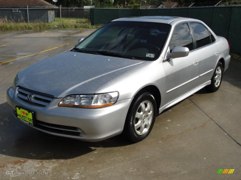 Satin Silver Metallic 2001 Honda Accord Ex Sedan Exterior