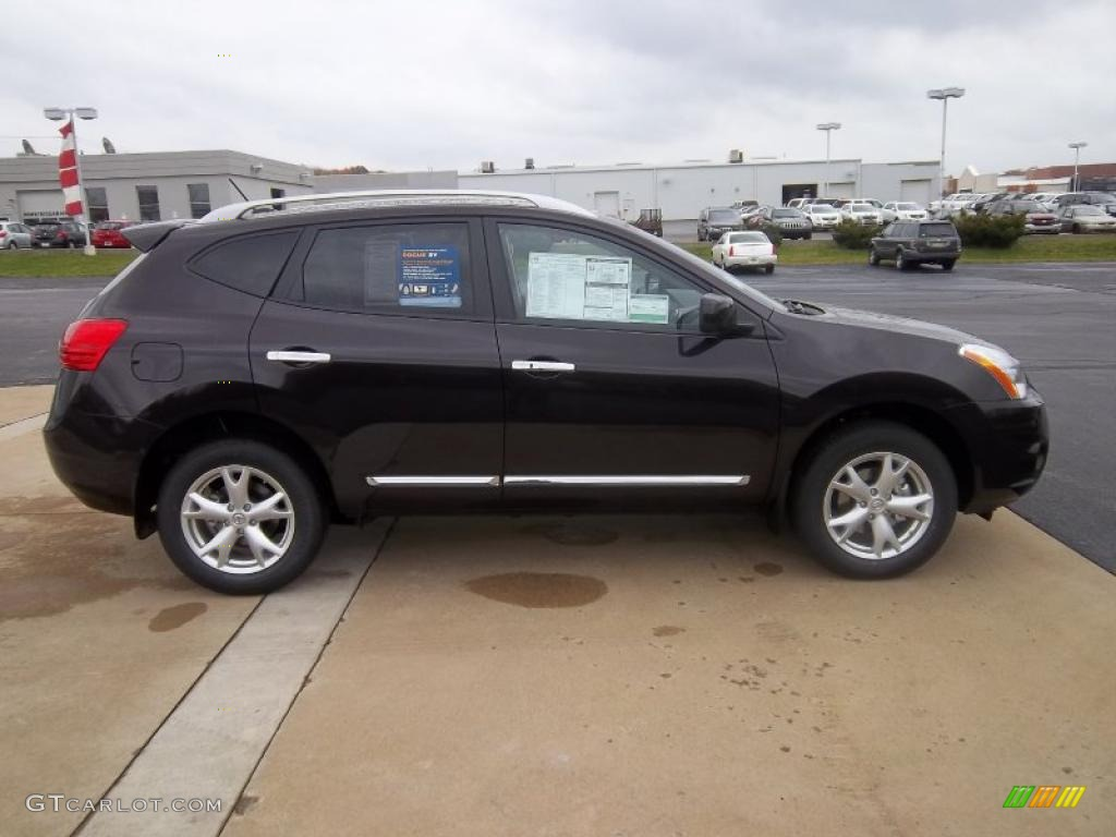 Wicked Black 2011 Nissan Rogue Sv Awd Exterior Photo