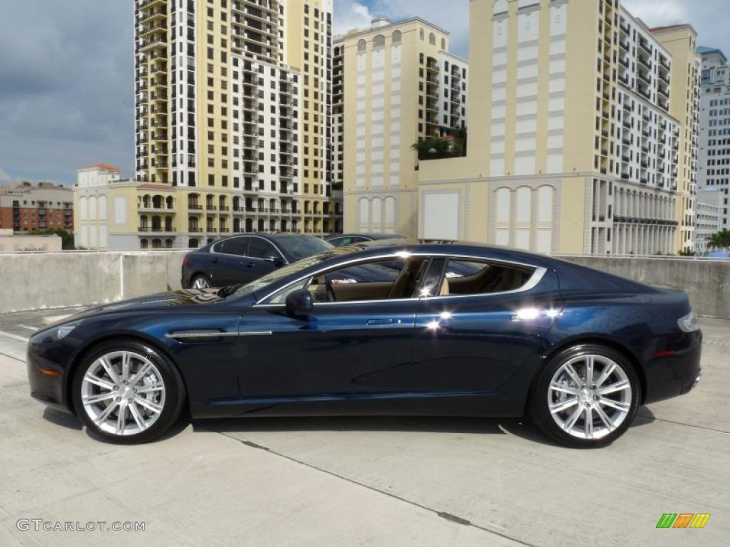 Midnight Blue 2011 Aston Martin Rapide Sedan Exterior