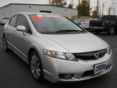Honda Civic Si Sedan White. 2009 Honda Civic Si Sedan