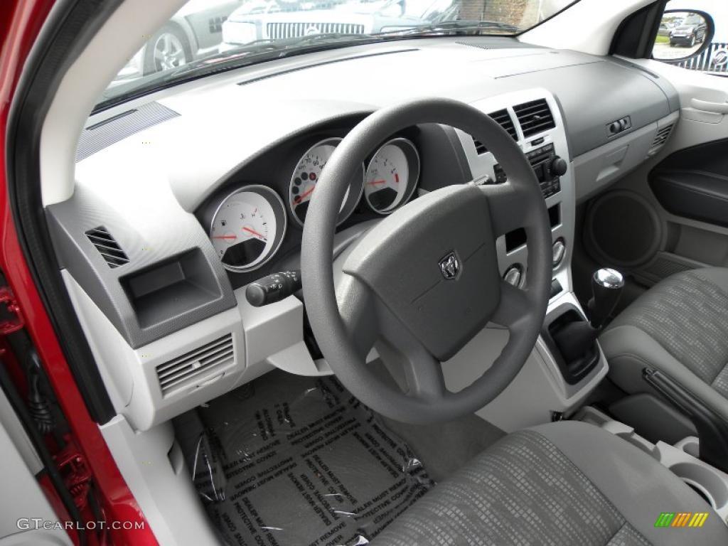 Pastel Slate Gray Interior 2007 Dodge Caliber Sxt Photo 38775307